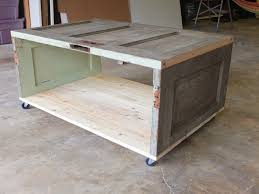 coffee table out of old door