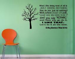 Just Doing Nothing Winnie The Pooh Wall Decal Wall Decals Custom Wall Decals Wall