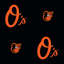 baltimore orioles logo pattern black