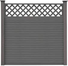 Festnight Fence Panels Garden Room Divider Wooden Fence Panels With Pine With Trellis Wpc 5 Square 879 X 185 Cm Grey Amazon Co Uk Kitchen Home