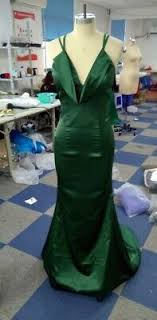 milly bridal green prom dress evening