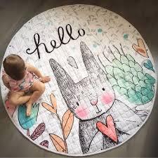 round rugs baby play mat
