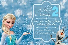 Free Frozen Birthday Party Invitations And Menu Ideas And
