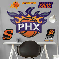Phoenix Suns Alternate Logo Giant Officially Licensed Nba Removable Wall Decal By Fathead