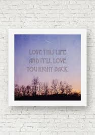 a square photograph of the winter sky at sunset a quote that