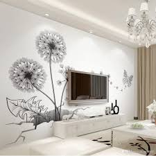 Black Dandelion Wall Decals Diy Broken Wall Plant Vinyl Decorative Stickers For Living Room Bedroom Decoration Large Size Sticker Murals Oversized Wall Decals Owl Wall Decals From Carrierxia 3 62 Dhgate Com