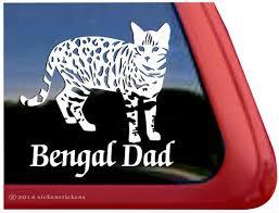 Bengal Dad Cat Decals Stickers Nickerstickers
