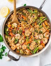 garlic shrimp pasta bright and healthy