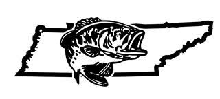 Tennessee Bass Fishing Decal Sticker