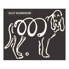 K Line Bloodhound Dog Window Decal Tattoo Doggy Style Gifts