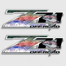 Z71 Rainbow Trout Truck Decals 4x4 Chevy Silverado Fly Fishing Sticker