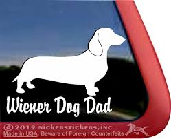 Wiener Dad Dachshund Dog Decals Stickers Nickerstickers