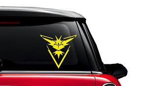 Team Instinct Pokemon Go Zapdos Decal Car Mac Mug Etsy Team Instinct Pokemon Team Valor Pokemon Pokemon Go