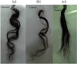 keratin k31 in straightening curly hair