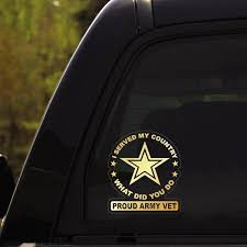 Proud Military Decals Stickers Veterans Nation