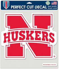 Amazon Com Nebraska 8x8 Color Die Cut Window Cling Sports Fan Decals Sports Outdoors