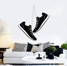 Vinyl Wall Decal Sports Shoes Teen Room Kids Stickers Mural Unique Gif Wallstickers4you