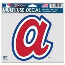 Atlanta Braves Retro Cooperstown Logo 5x6 Ultra Decal At Sticker Shoppe