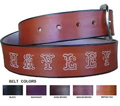 com personalized leather belt