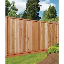 6 Ft X 8 Ft Premium Western Red Cedar Heavy Duty Solid Fence Panel W Stained Spf Frame Size 67 1 2 In H X 96 In W In 2020 Fence Panels Western Red Cedar Red Cedar