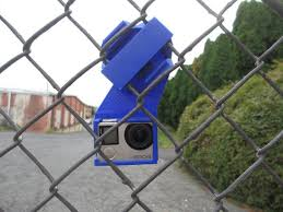 Gopro Hero 3 3 4 Black Silver Chain Link Fence Secure Etsy