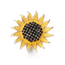 whole sunflower metal snap on
