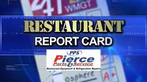 restaurant report card food service