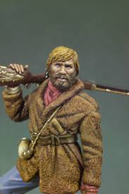 Jeremiah Johnson S4-F14 54 mm 1/32   The Golden West   Andrea Miniatures    Andrea Europe
