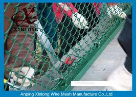High Security Pvc Coated Chain Link Fence For Baseball Fields Park Highway