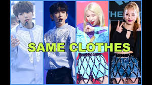 kpop idols wearing the same clothes