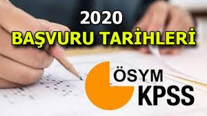 KPSS başvuruları ne zaman başlıyor? KPSS 2020 Ortaöğretim ...