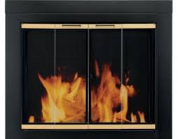 pleasant hearth fireplace doors wood