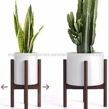 bamboo plant pot stand indoor