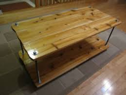 rustic coffee table or