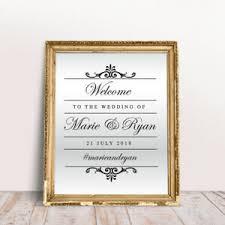 Custom Wedding Welcome Sticker Mirror Frame Venue Event Sign Decor Vinyl Decal Ebay