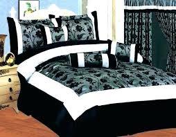glamorous black and white comforter