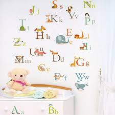 Cute Animals Alphabet Kids Room Wall Decal Sticker A To Z English Letter Removable Wall Art Mural Decor Sticker Wall Stickers For Bedroom Wall Stickers For Bedrooms From Magicforwall 2 29 Dhgate Com