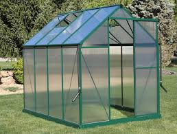 the brighton 6x8 greenhouse featuring
