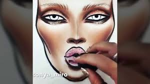 makeup draw how to draw a face with
