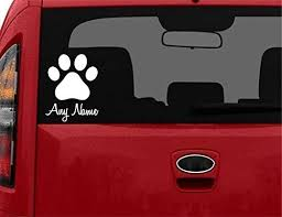 Amazon Com Stickerloaf Brand Custom Pet Paw Decal Car Truck Auto Window Sticker Bumper Decal Any Color Pet Dog Cat Paws Kitten Kitty Puppy Animal Rescue In Memory Of Pets Memorial Handmade