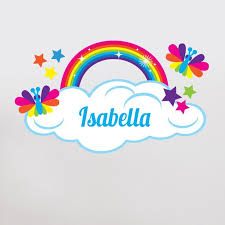Sunny Decals Rainbow With Custom Name Personalized Wall Decal Reviews Wayfair