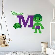 Custom Name Initial Hulk Wall Decal Egraphicstore