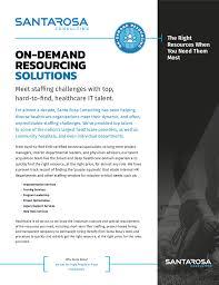 resourcing solutions info sheet
