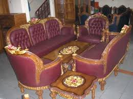 kursi tamu sofa model monaco ukiran