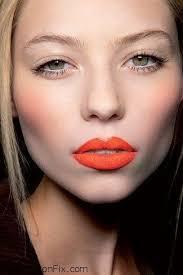 wear an orange lip makeup look tutorial