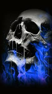 blue skull fire wallpapers posted by