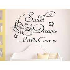 Sweet Dreams Little One Nursery Wall Sticker Childrens Bedroom Wall Quote