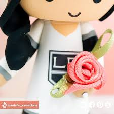 La Kings Bride And Groom Sports Fan Inspired Wedding Cake Topper Wedding Cake Toppers Jessichu Creations