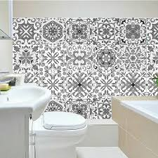 Spanish Moroccan Mosaic Wall Tile Self Adhesive Backsplash Kitchen Bathroom Wall Decal Grey Sticker H1112 Wall Stickers Aliexpress