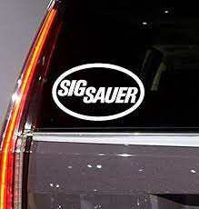 Car Window Vinyl Sticker Sig Sauer D Buy Online In Antigua And Barbuda At Desertcart